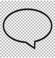 speech bubble icon isolated on transparent vector image vector image