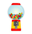 Sphere gumball machine container with sweet