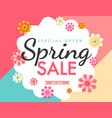 spring sale flower vector image vector image