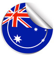 sticker design for australia flag vector image vector image