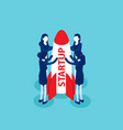 teamwork isometric with startup business team vector image