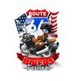 vintage motorcycle bikers festival logo vector image