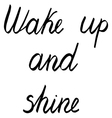 wake up and shine vector image vector image