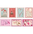 wedding stamps vector image