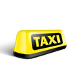 yellow glowing taxi automobile sign with shadow vector image