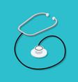 phonendoscope or stethoscope medical instrument vector image