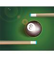 The eight ball Billiard Background vector image