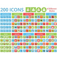Set of 200 icons for web and mobile vector image