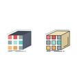 abstract aggregation cube dimensional matrix flat vector image