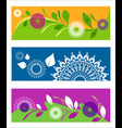abstract backgrounds of lacy mandalas with leaves vector image