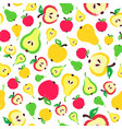 apple pear background painted pattern vector image vector image