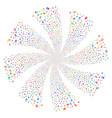 award fireworks swirl flower vector image vector image