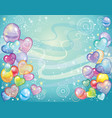 background with balloons turquoise vector image vector image