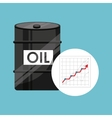 barrel oil concept growth graph vector image vector image
