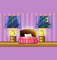 bedroom scene with two windows vector image