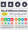 Bell icon sign Big set of colorful diverse vector image