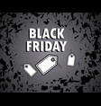black friday concept sale bang shards banner vector image