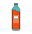 bottle with blank laber icon image vector image vector image
