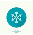 button with snowflake vector image