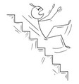 cartoon man or businessman falling down on vector image vector image