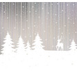 christmas background winter landscape vector image vector image