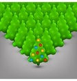 Christmas trees with toys vector image vector image