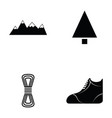 climbing icon set vector image vector image