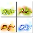 Colorful autumn leaves vector image vector image
