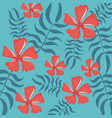 colorful tropical seamless pattern vector image vector image