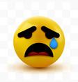 crying sad emoticon emoji smiley social network vector image vector image