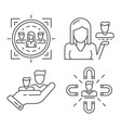 customer retention icon set outline style vector image vector image