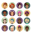 Cute cartoon girls avatars