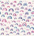 cute childish rainbows pattern nursery pattern vector image