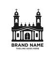 design church building silhouette logo vector image vector image