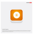 disc icon orange abstract web button vector image
