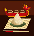 dragon boat festival food rice dumpling and sauce vector image