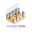 elections isometric composition vector image vector image