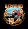 extreme off road vehicle suv on a desert vector image vector image