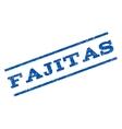 Fajitas Watermark Stamp vector image vector image