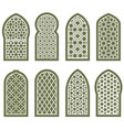 figured arabian window ornament - arabesque vector image vector image