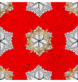 golden pattern on red colors with golden elements vector image