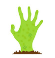 hand zombie icon flat style isolated on white vector image vector image
