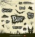 Happy Halloween collections vector image vector image