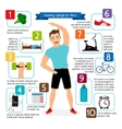 Healthy lifestyle for man infographics vector image vector image