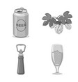 isolated object pub and bar icon collection of vector image vector image