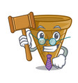 judge sweet wafer cone isolated on maskot vector image vector image