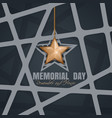 memorial day poster design vector image vector image
