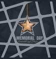 memorial day poster design vector image
