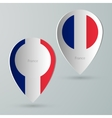 paper of map marker for maps france vector image