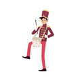 parade and marching band participant young vector image